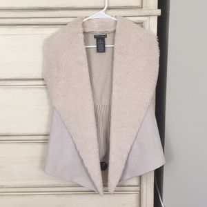 Chelsea & Theodore faux suede and fur vest